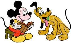 Mickey en pluto100 X 59