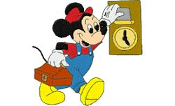 Mickey klok 100 X 96