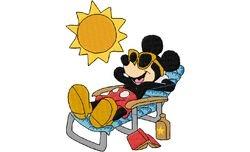 Mickey in de zon 127 X 100
