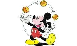 Mickey jongleerd 84 X 100