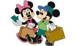 Mickey en minie trouwen 128 X 152