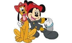 Mickey en pluto brandweer 129 X 132