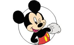 Mickey rondje 88 X 82