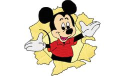 Mickey surprise    99 X 99