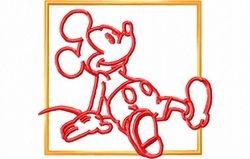 Mickey zit 99 x 90
