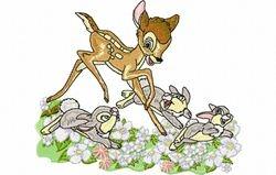 Bambi met konijn 132 x 157