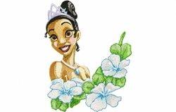Prinsses Tiana bloemen 127 X 162