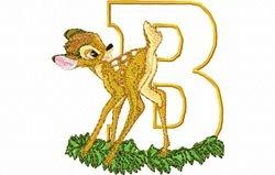 Bambi letter B 10 x 10