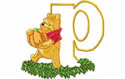 Pooh letter P 10 x 10