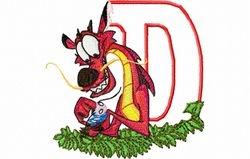 Draak letter D 10 x 10