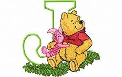Pooh en knor letter J 10 x 10