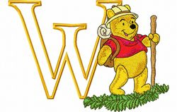 Pooh wandelt letter W 120 X 172