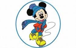 Mickey schaatsend 127 x 134