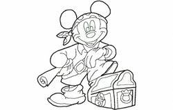 Mickey piraat 178 x 196