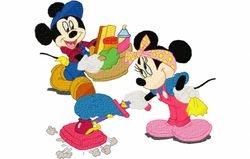 Mickey en mini poetsen 197 X 226