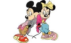 Mickey en mini leunen 123 X 128
