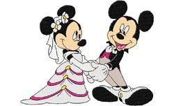 Mickey en mini trouwen 128 X 163