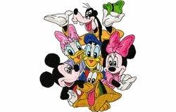 Mickey familie 160 x 183