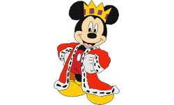 Mickey mouse als koning 109 X 175