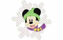 Mickey sneeuw ster 119 X 119