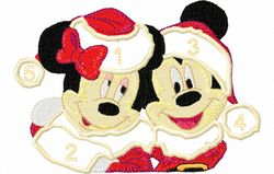 Mickey en mini kerst applicatie 143X100