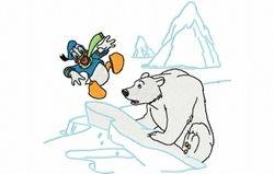 Donald met ijsbeer 119 x 110