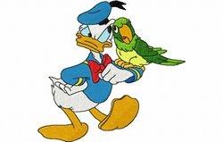 Donald met papagaai 126 x 120