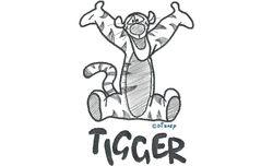 Tigger zwart wit 286 X 199