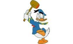 Donald duck hamer 59 X 99