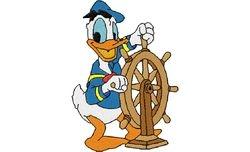 Donald duck als schipper 70 X 99