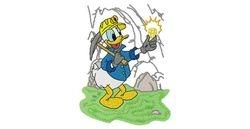 Donald als mijnwerker 114 X 152