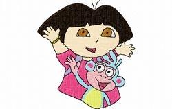 Dora met aap 2   90 X 100