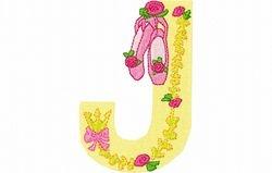 Lilli fee letter J  100 X 78
