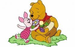 Pooh bloemen 129 x 161