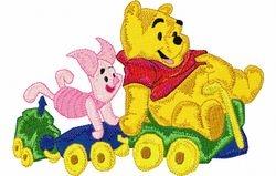 Pooh en knor op trein 2   123 X 177