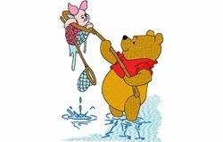 Pooh en knor vissen 130 x 170