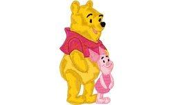 Pooh en knor samen  91 X 176