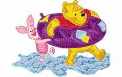 Pooh en knor zwemmen 121 x 94