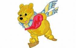 Pooh schaatst 104 X 122