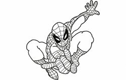 Spiderman contour 178 x 194