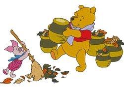 Pooh herfst 180 X 114