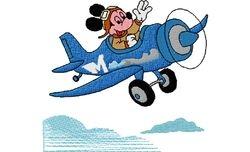 Mickey mouse vliegtuig 2   98 X 90