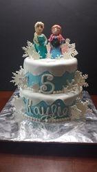 Frozen Snowflakes Cake