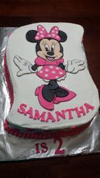 Polka dotted Minnie Mouse cake