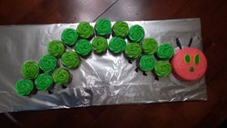 A Very Hungry Caterpillar Baby Shower Cupcakes