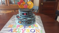 80s Themed Ms. Pac Man Cake