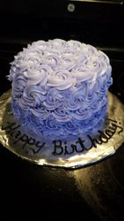 Ombre Rosettes Cake