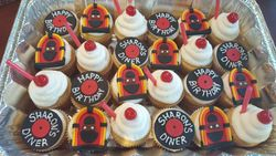 50s Diner Cupcakes