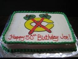 Blackhawks Tomahawk Cake