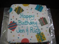 Birthday Presents Cake